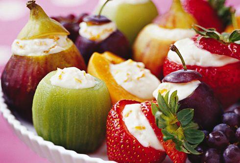 frutas y queso