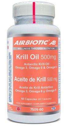 Airbiotic Aceite de Krilll Antártico 500mg 60 cápsulas