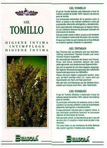 Bellsola Gel de Tomillo Íntimo 250ml
