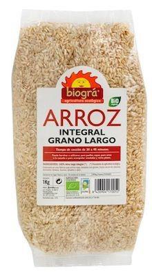 Biogra Arroz Integral Grano Largo Bio 1 Kilo