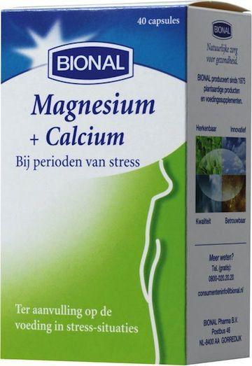 Bional Magnesio y Calcio 40 cápsulas