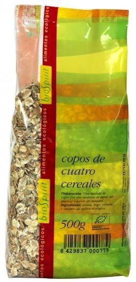 Bio Spirit Copos de Cuatro Cereales Bio 500g