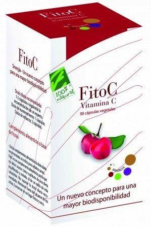 100% Natural Fito C-Vitamina C Sinergia 90 cápsulas