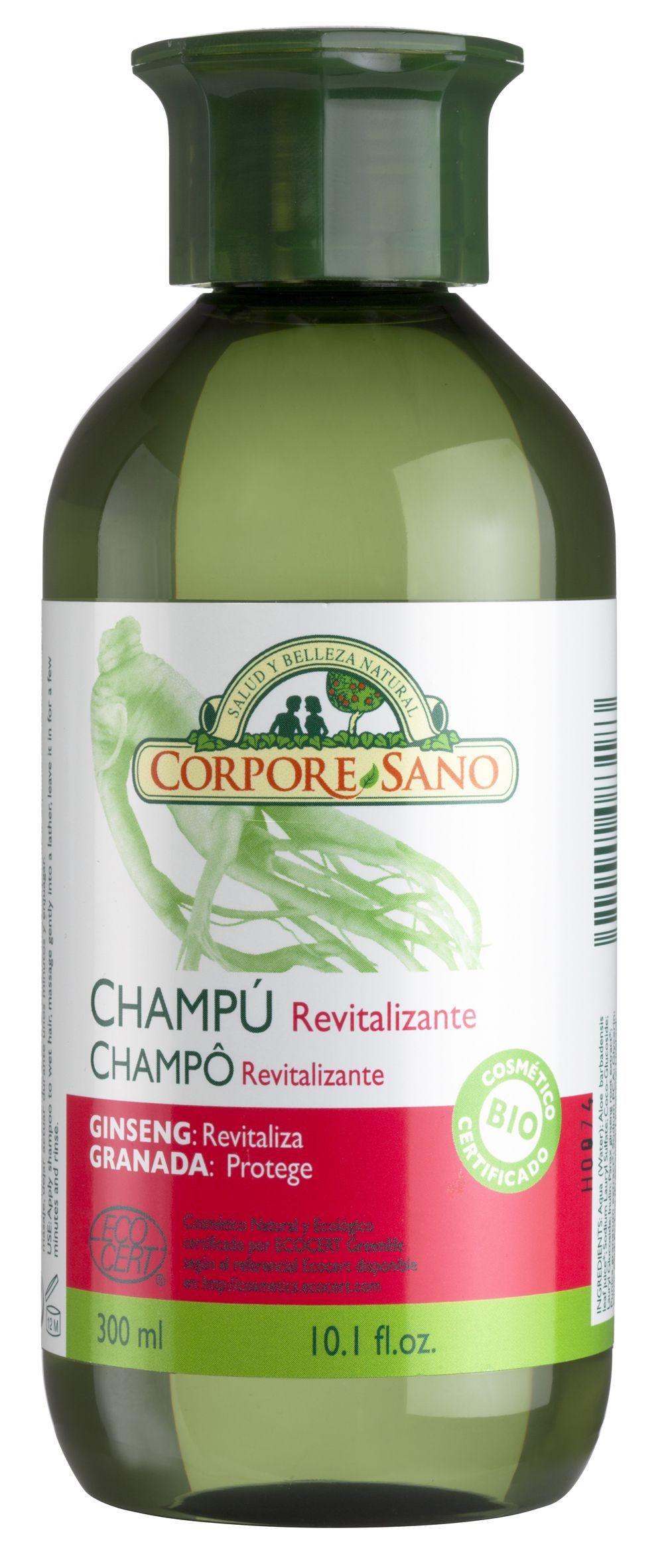 Corpore Sano Champú Revitalizante Ginseng Granada 300ml