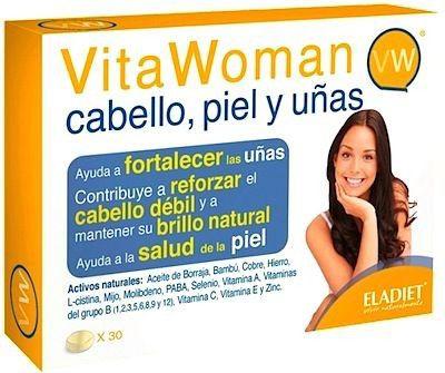 Eladiet Vita Woman Cabello, Piel y Uñas 60 comprimidos