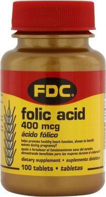 FDC Vitamina B9 Acido Folico 400mcg 100 comprimidos