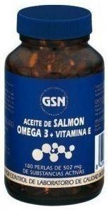 GSN Salmón Omega 3 Vitamina E 500mg 180 perlas