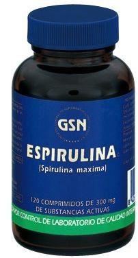 GSN Spirulina 300mg 120 comprimidos