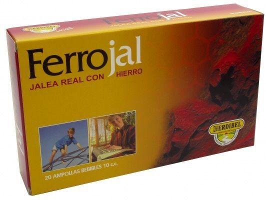 Herdibel Ferrojal 20 ampollas