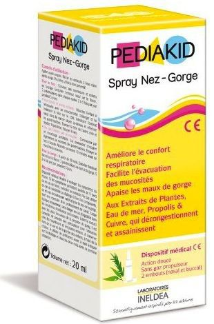 Ineldea Pediakid Garganta spray 20ml