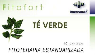 Internature Fitofort Té Verde 40 cápsulas