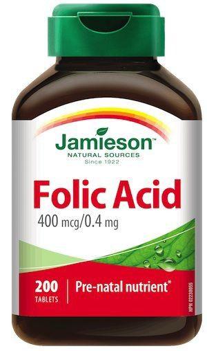 Jamieson Acido Fólico 400mcg 200 comprimidos