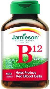Jamieson B12 Metilcobalamina 1000mcg 100 comprimidos sublinguales