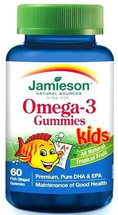 Jamieson Omega 3 Niños 60 caramelos de goma