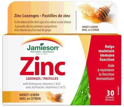 Jamieson Zinc 30 comprimidos