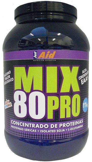 Just Aid Mix 80 Pro sabor fresa 900g