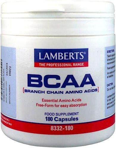 Lamberts BCAA-Aminoácidos Cadena Ramificada 180 cápsulas