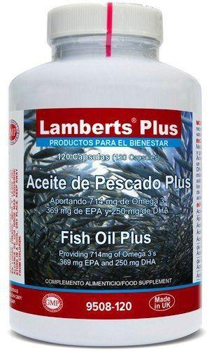 Lamberts Plus Aceite de Pescado Plus 120 cápsulas