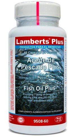 Lamberts Plus Aceite de Pescado Plus 60 cápsulas