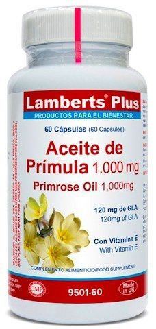 Lamberts Plus Aceite de Prímula 1000mg 60 cápsulas