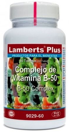 Lamberts Plus Complejo Vitamina B50 60 comprimidos