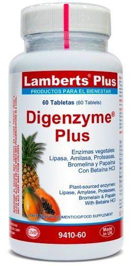 Lamberts Plus Digenzyme Plus 60 comprimidos