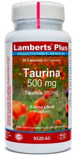 Lamberts Plus Taurina 500mg 60 cápsulas