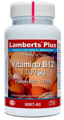 Lamberts Plus Vitamina B12 1000mcg 60 comprimidos