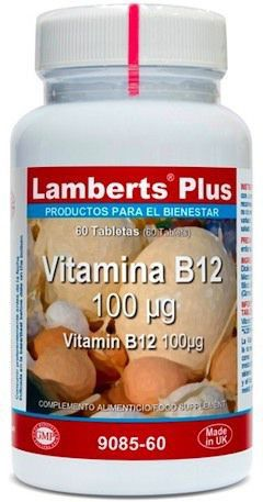 Lamberts Plus Vitamina B12 100mcg 60 comprimidos