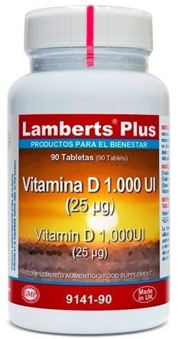 Lamberts Plus Vitamina D 1000ui 90 comprimidos