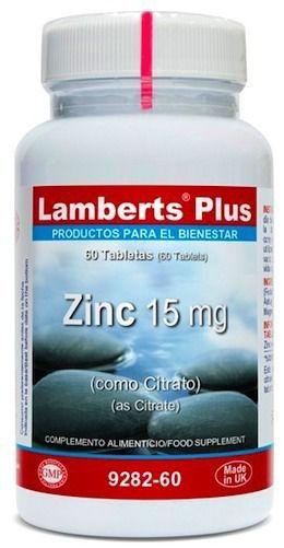 Lamberts Plus Zinc 15mg 60 comprimidos
