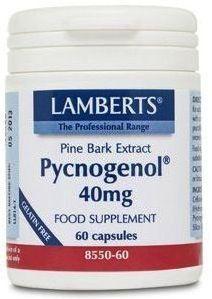 Lamberts Pycnogenol 40 mg 60 cápsulas