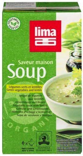 Lima Sopa Verduras con Lentejas Bio 1 Litro