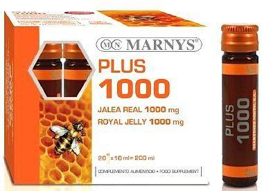 Marnys Jalea Real Plus 1000mg 20 ampollas