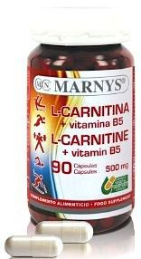 Marnys L-Carnitina y Vitamina B5 90 cápsulas