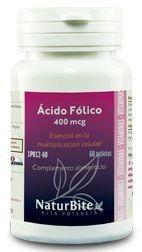 Naturbite Acido Folico 400mcg 60 comprimidos