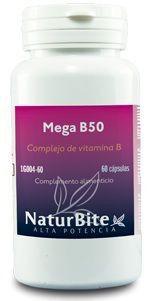Naturbite Mega B50 Complex 60 cápsulas