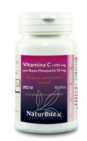 Naturbite Vitamina C 1000mg Rosa Mosqueta 20mg 60 comprimidos