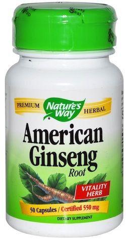 Nature's Way Ginseng Americano 50 cápsulas