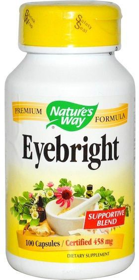 Nature's Way Eyebright fórmula herbal 100 cápsulas