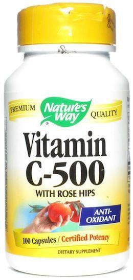 Nature's Way Vitamina C-500 con Escaramujo 100 cápsulas