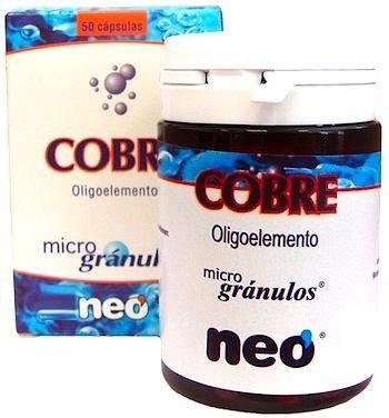 Neo Cobre Microgranulos 50 cápsulas