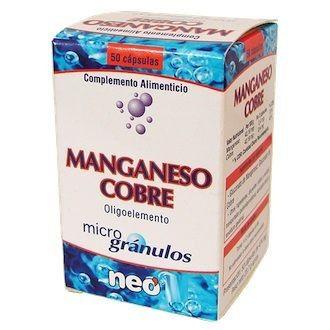 Neo Manganeso-Cobre Microgranulos 50 cápsulas