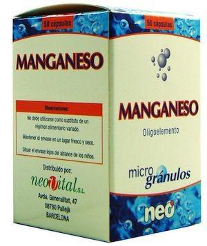 Neo Manganeso Microgranulos 50 cápsulas