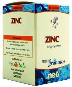 Neo Zinc Microgranulos 50 cápsulas