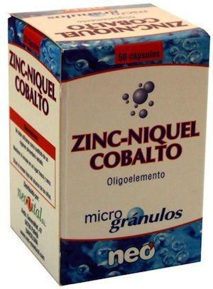 Neo Zinc-Níquel-Cobalto Microgranulos 50 cápsulas