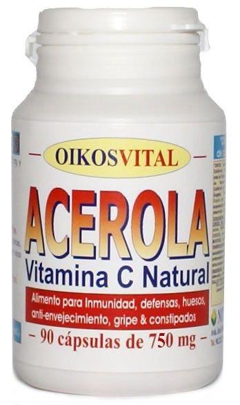 Oikos Acerola Vitamina C 90 cápsulas