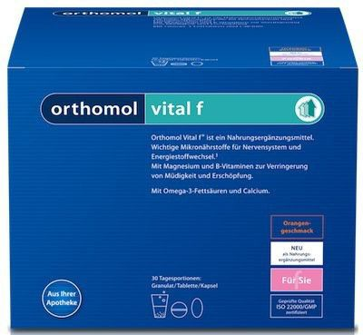 Orthomol Vital F 30 sobres granulados