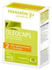 Pranarom Oleocaps 2 Alivio Gastrointestinal y Vía Urinaria 30 cápsulas
