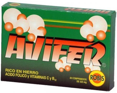 Robis Avifer 30 comprimidos